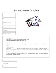 Formal Business Letter Format Templates Sample Example Template