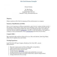 Mail Clerk Resume Typistume Cover Letter Clerk Examples Steno Audio