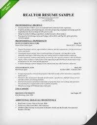 Realtor Resume Examples 2 Real Estate Sample Techtrontechnologies Com