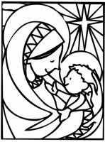 Madonna E Bambino Da Colorare Cose Per Crescere