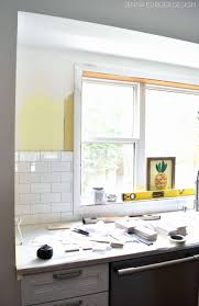 fascinating gray subway tile backsplash kitchen picture of cream colored beautiful black metal cute awesome grey white cabinets with l image permalink and