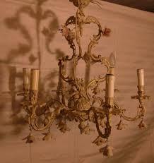 Barocker Leuchter Kandelaber Kronleuchter Metall Elektr Kerzen