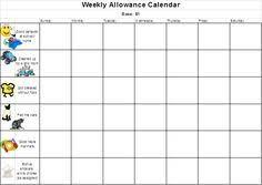 Virginia Chart Of Allowances 2017 9 Best Allowance Charts Images Allowance Chart Chores For