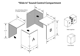sound control iso booth assembly drawing