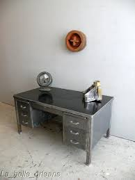 vintage steel furniture. A Stunning Vintage Industrial Steel Desk. Made All In Thick Metal . With 6 Drawers And Two Shelves On The Top. Central Drawer Locks Furniture T