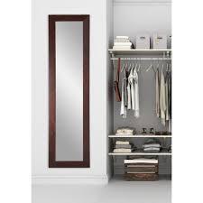 brandtworks modern rustic dark walnut full length framed mirror