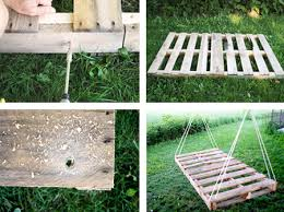 reclaimed timber pallet garden swing day bed