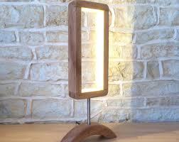 unique lighting designs. Featured Listing Image: Hand Crafted Designer Table Lamp Wooden Desk Light  Unusual Modern Minimalist Open Unique Lighting Designs