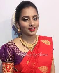 simple wedding makeup indian makeup look red silk saree south indian makeup looks
