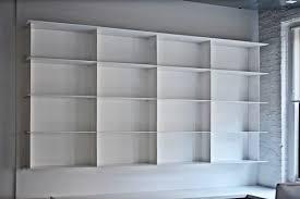 minimal white powder coated steel shelves