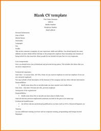 Fill In The Blank Resume Templates Free Printable Template For High