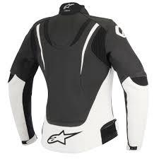 alpinestars stella jaws leather jacket black white