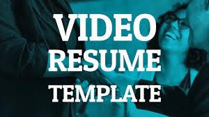 Video Resume Tips Resume