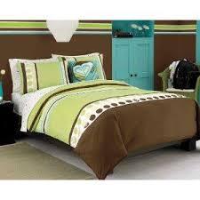 Roxy Green Colorblock Teen Girls Comforter Set