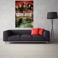 custom made pirates of the caribbean movie hd poster style waterproof back glue paper decorative wall stickers wdy595 caribbean furniture
