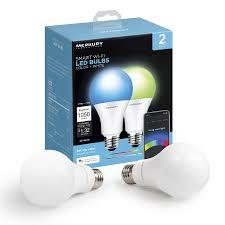 Walmart Alexa Light Bulbs Merkury Innovations A21 Smart Light Bulb 75w Color Led 2 Pack Walmart Com