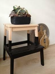 zwarte plantenbak met vetplant - stoer op mijn DIY BEKVAM opstapje op mijn  #pintratuin moodboard