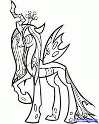 Small Picture My Little Pony Queen Chrysalis Coloring Pages Coloring Coloring