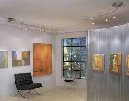 track lighting for art. in this room we see track lighting used to highlight gallery walls is for art g