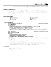 School Bus Driver Resume With Safety Transport Elementary School Bus ...