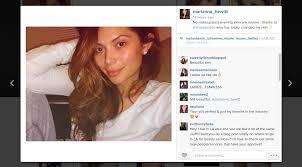 marianna hewitt selfie no makeup