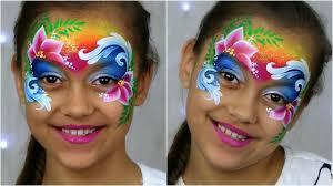 moana tropical princess face painting makeup for kids