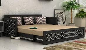 sofa cum bed. Betty Sofa Cum Bed (King Size, Black Finish)-1
