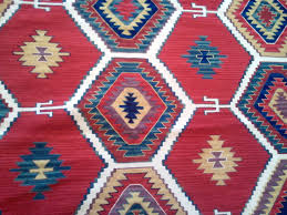 most blue and red rug vibrant kilim flatweave 8x10 fall in love