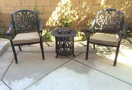<b>Bistro</b> Patio Set <b>3 Piece</b> Conversation Cast Aluminum Outdoor ...