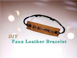 picture of faux leather bracelet diy