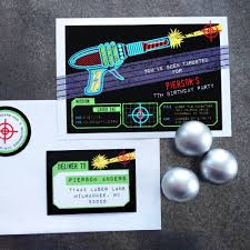 laser tag party invitation and printables in the shop anders laser tag birthday party invitation
