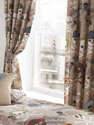 Luxury Bedroom Curtains Skulls Luxury Fully Lined Ready Made Bedroom Curtains Set 66 X 72