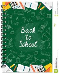 School Cover Page Design A5 Cover Design School Notebook With Text And Stationery