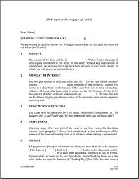printable sample personal loan agreement form business agreement sample letter