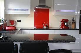 Designer Kitchen Splashbacks A Bright Red Acrylic Kitchen Splashback With A High Gloss Finish