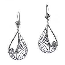 pear shaped sterling silver filigree drop earrings 02 home artisan