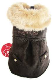 dogs life winter coat brown 2 x extra small