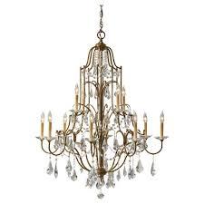 feiss valentina oxidized bronze twelve light chandelier
