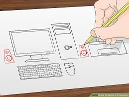 picture of a computer how to draw a computer 12 steps with pictures wikihow