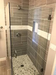 corner shower glass enclosure patriot and mirror ca installation ocean beach shelf with rail