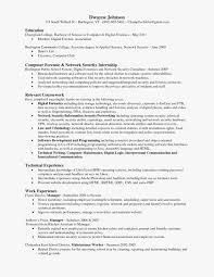 Associate Degree Resume Forensic Science Graduate Digital Forensics