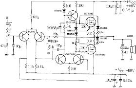 mosfet power amplifier 100 watt schematic diagram amplifier audio amplifier