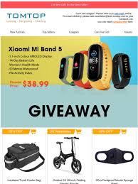 TOMTOP: [Tomtop 16th Anniversary]Xiaomi Mi Band 5 PRESALE ...