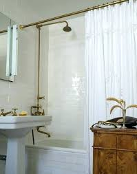 diy shower curtain rod tub shower curtain rod diy pipe shower