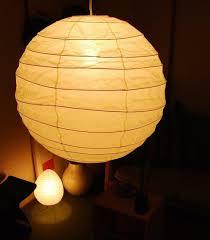Japanese Lantern Pendant Light Isamu Noguchi Akari 55d Shade For Pendant Light Japanese Antique Style Lamps White