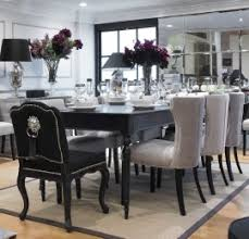black extending dining table