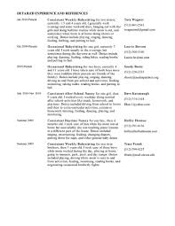 Nanny Sample Resume Templates