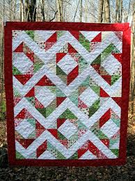 134 best Christmas Quilts images on Pinterest | Patchwork, Pink ... & Great design for embroideries!Modern Quilt // Modern Christmas Quilt / Adamdwight.com