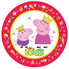 """Купить <b>набор тарелок</b> (<b>6</b> шт.), 23 см, """"Пеппа- принцесса"""" в ..."""
