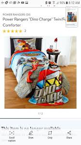 power rangers dino charge twin bedroom set